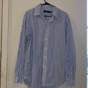 Ralph lauren striped button up size large